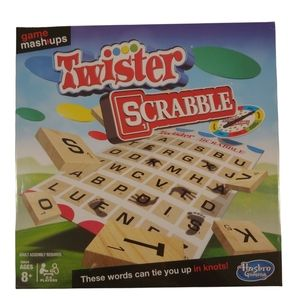 Hasbro Twister Scrabble Mash-Up Game, Age 8+, 2-4 Players English Edition NWT